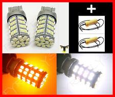 120 LED Dual Color Switchback 7443 7444 Turn Signal Lights & Resistors #F9