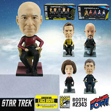 Star Trek Captains Monitor Mate Bobble Heads Set of 5 BRAND NEW SDCC EXCLUSIVE!
