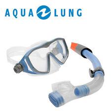 Aqualung 2tlg. Pro Series Schnorchel Set Damen Diva Maske Tauchset Ausblasventil