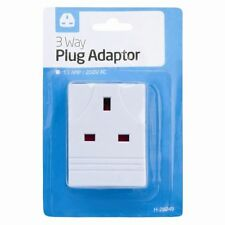 3 WAY SOCKET HOUSEHOLD MULTI PLUG ADAPTER UK MAINS 13AMP 250V AC 3 SOCKET BLOCK