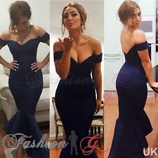 Womens Dress Midi Ball Gown Prom Party Formal Celeb Blue Evening Maxi Size 8,10