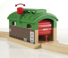 Locomotive shed with Roll-up door 33574 Brio Wooden Railway Locomotive Shed