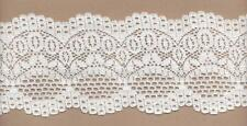 White Rigid Lace Trimming 5mts 8.5cm Wide