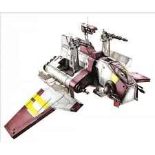 Star wars republic attack shuttle + clone pilot action figures et navire