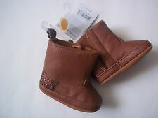 Baby Girl's Carter's Brown Sparkle Crib Shoes/Boots ~Size Newborn
