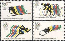 EE. UU. 1972 Juegos Olímpicos/Juegos Olímpicos de Invierno/Ciclismo/Esquí/deportes 4v Set (n45013)