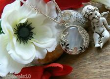 Moonstone Opal Necklace Unusual Gift Vintage Jewellery for her Art Deco P1