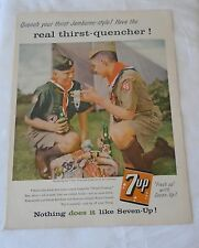 Vintage 1957 7UP 7-Up Seven Up Full page Ad Boy Scouts Reak Thirst Quencher