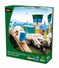 Brio Monorail Airport SET Wooden Railway Train 33301