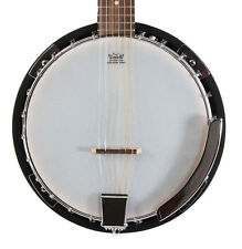 New Left Handed 6 String Banjo Guitar with Closed Back 24 Brackets Remo Head