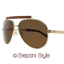 Montblanc Aviator Sunglasses MB454S 28M Rose Gold/Havana Polarized 454