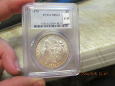 1879 7tf  PCGS MS 63 SLABBED  MORGAN DOLLAR  CERTIFIED!  BEAUTIFUL!