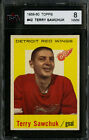 1959-60 TOPPS~#42~TERRY SAWCHUK~HALL OF FAME~DETROIT RED WINGS~KSA 8 NM-MT