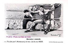 PUBLICITE SUZE SPORT LA BOXE DERNIER ROUND SIGNE PAUL ORDNER DE 1936 FRENCH AD