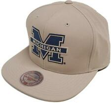 Mitchell & Ness michigan Milo eu829 tan SnapBack cap gorra basecap NCAA mens New