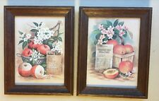 (2) VTG Home Interiors Recipe Apple Peach Basket Strainer Country Canning Pie