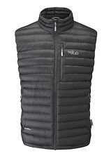 Rab Microlight Down Vest / Gilet Men's Size Extra Large, Colour -Beluga (Grey)