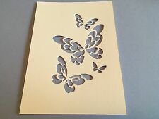 10 x Butterfly Cut-out die cuts on A6 card  **FREE UK POSTAGE**