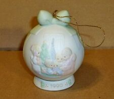 "Precious Moments,""May Your Christmas Be A Happy Home"" 1990 Figurine"