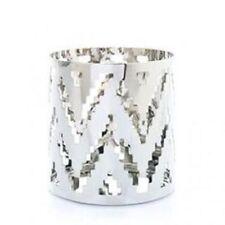 Yankee Candle Chrome Chevron Jar Holder # 1324620 New In Box -