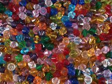 Crystal Glass Bicone Beads 8mm. 75pcs Mix Colours Beading Jewellery FREE POSTAGE