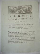 Séance publique du 19 floréal /ARRÊTE DU DÉPARTEMENT DE LA CHARENTE