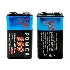 2 pcs 9V 9 Volt 600mAh Ni-MH Rechargeable Battery for Radio Guitar RC Toy PP3