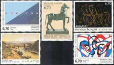 France 1996 art/peintures/sculpture/artistes/gens/moderne/cheval 5v set (n42047)