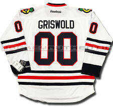 CLARK GRISWOLD CHICAGO BLACKHAWKS NEW AWAY JERSEY CHRISTMAS VACATION REEBOK