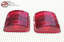 51 52 Chevy Passenger Car Rear Tail Light Lamp Brake Stop Lens Lenses Set of 2