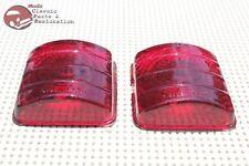 51 52 Chevy Passenger Car Rear Tail Light Lamp Brake Stop Lens Lenses Set of 2