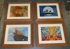 Set of 4 DISNEY LITHOGRAPH FRAMED LION KING Pictures - GREAT FIND!