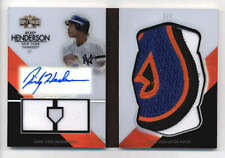 RICKEY HENDERSON 2012 TRIPLE THREADS JERSEY LOGO PATCH AUTO BOOKLET #1/1 SS5443
