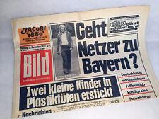 Bild Zeitung vom 27.11.1972 * Bildzeitung Güter Netzer * Bayern München