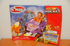 K'nex rippin Rocket Roller Coaster Replacement Instruction Manual Directions