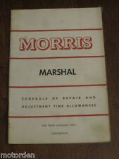 MORRIS MARSHALL  CONFIDENTIAL Repair Times Nuffield/BMC Australia book FREE POST