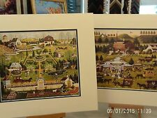 2 MATTED CHARLES WYSOCKI PICTURES UNCLE JACK TOPIARY ROOT BEER FESTIVAL MILL