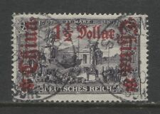 1905 German offices in CHINA  1½ Dollar on 3Mark  with op used, -SHANGHAI- exper