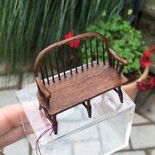 1:24 HALF Scale Signed William Clinger Windsor BENCH Vintage Dollhouse Miniature