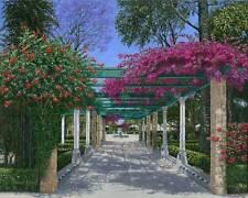 "SUPERB ORIGINAL RICHARD HARPUM M.A (Camb) ""Cadiz Garden"" Spain Spanish PAINTING"