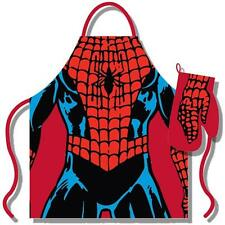 Spiderman - Costume Apron And Oven Mitt Set - New & Official Marvel Comics