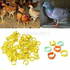 100pcs 18mm Clip On Leg Rings 001-100 Numbered for Chickens Ducks Hens Poultry
