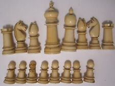 Vintage chess set Jaques? Calvert? possibly bone with box