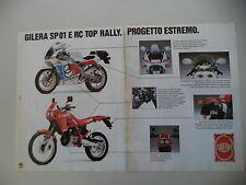 advertising Pubblicità 1989 MOTO GILERA 125 SP 01 SP01/RC TOP RALLY