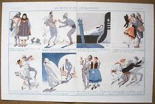 La Vie Parisienne prejelan 1920 impresión Soldado con Novia en cada país.