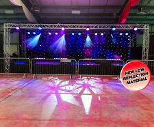 LEDJ DMX Starcloth - 8M x 4.5M - party event wedding DJ venue decor marquee