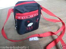 rigolote petite sacoche sac ILI i love it besace noir 2 poches zip doublé bag