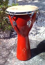 TOCA Percussion  Tunable Djembe Natural Oak Wood Chrome hardware