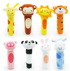 Lovely Cute Cartoon Newborn Baby Toys Soft Plush Animal Model Handbells Rattles