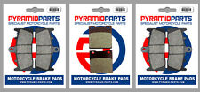 Kawasaki ZX-7R 750 Ninja 96-03 Front & Rear Brake Pads Full Set (3 Pairs)